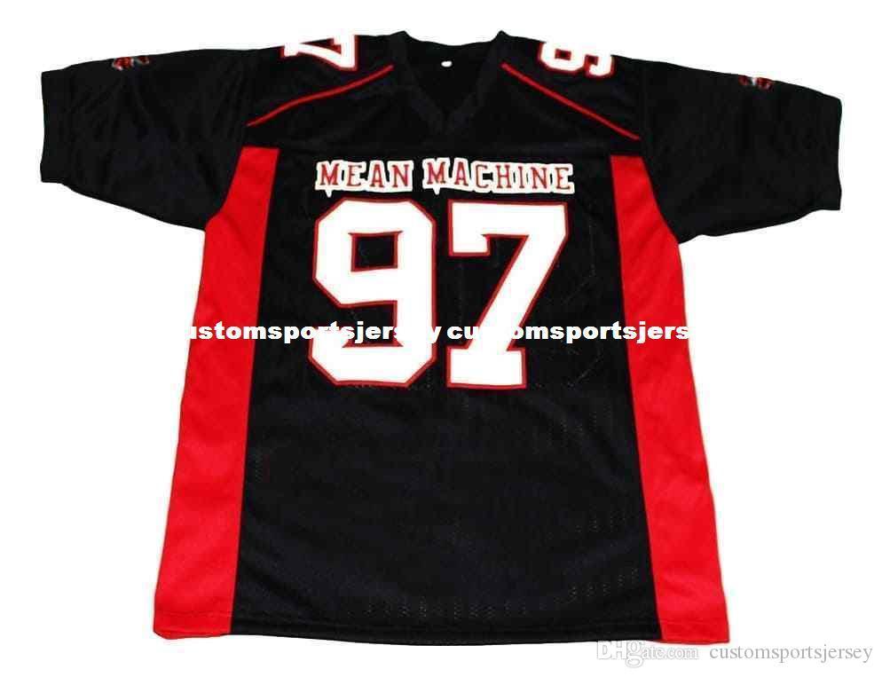 toptan Switowski'nin # 97 Mean Machine Yeni Futbol Jersey Siyah Dikişli Özel herhangi bir sayı adı BAY BAYAN GENÇLİK Futbol JERSEY