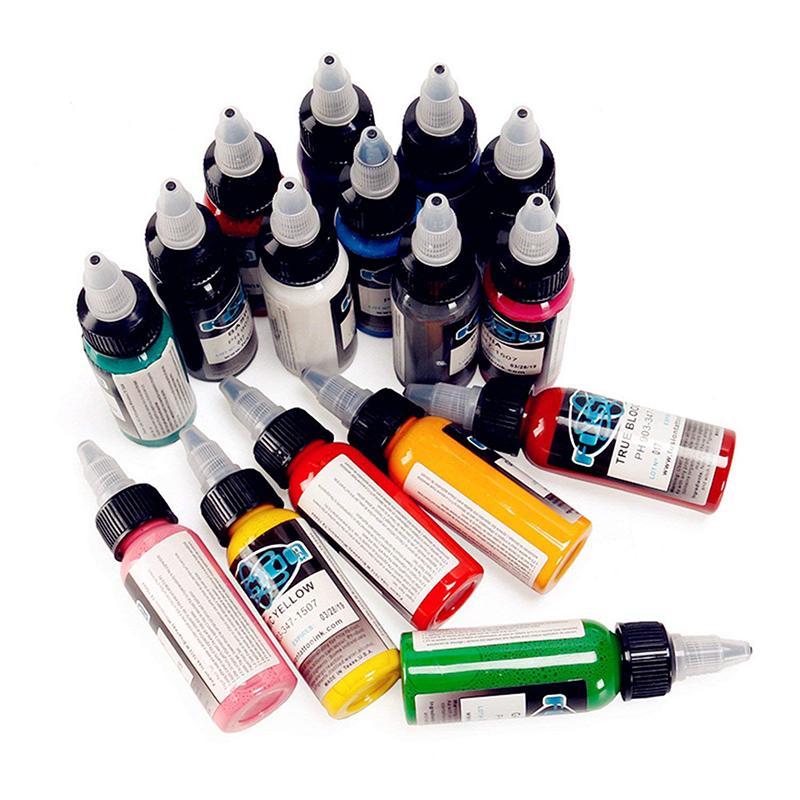 Tattoo Tattoo Premium Ink Set, 60 colori 1 Oz (30ml) Ogni