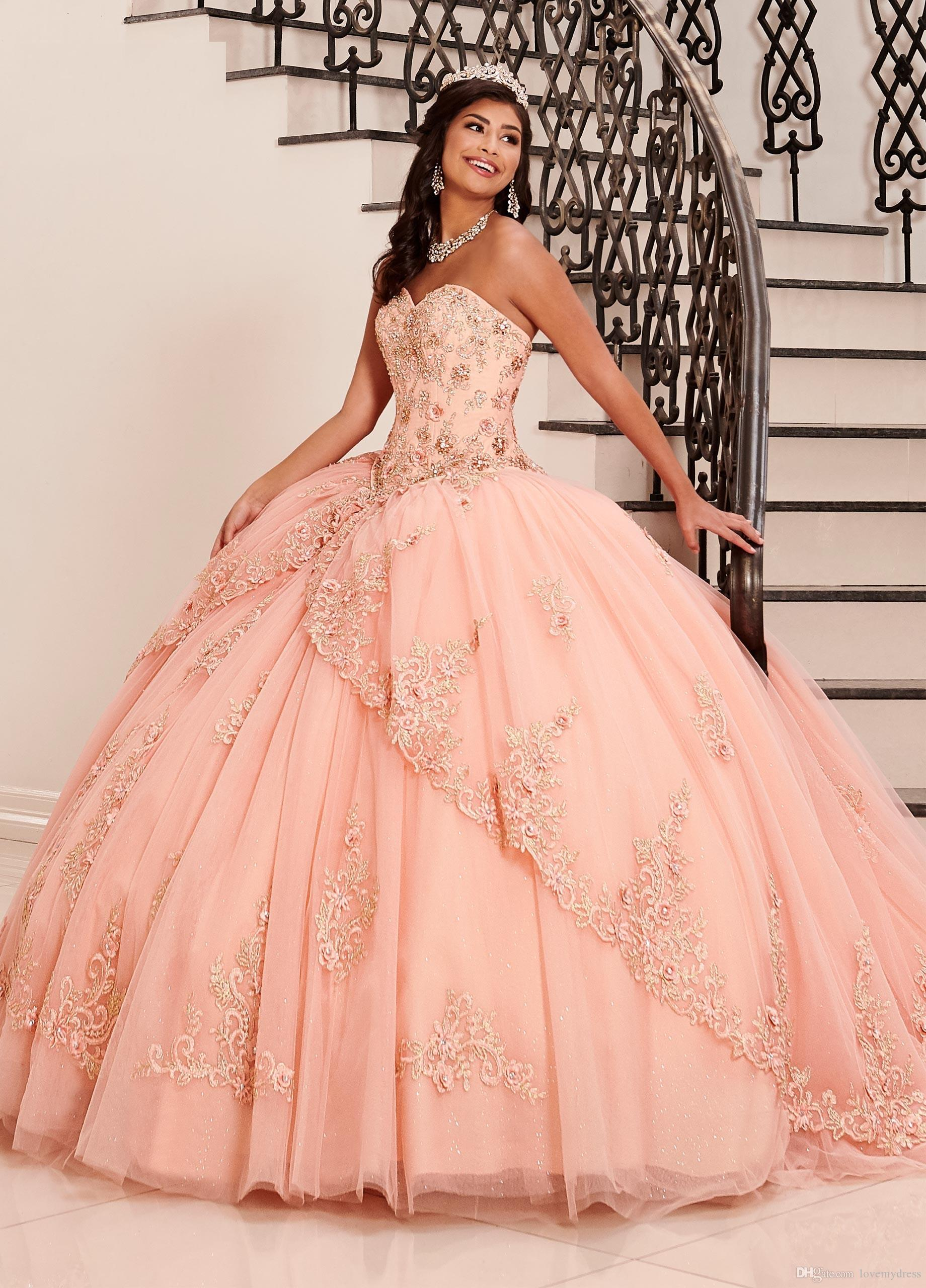 Blush Pink Dresses Quinceanera