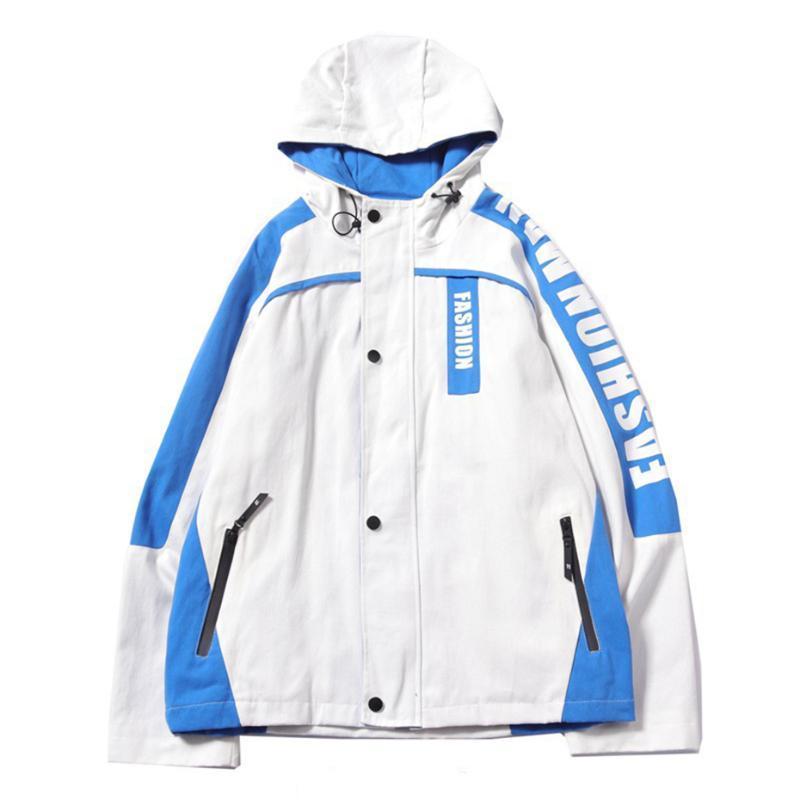 Hip Hop de la chaqueta con capucha de los hombres rompevientos chaquetas 2020 de manera del resorte mujeres de los hombres con capucha abrigos Streetwear hombres Ropa MG445