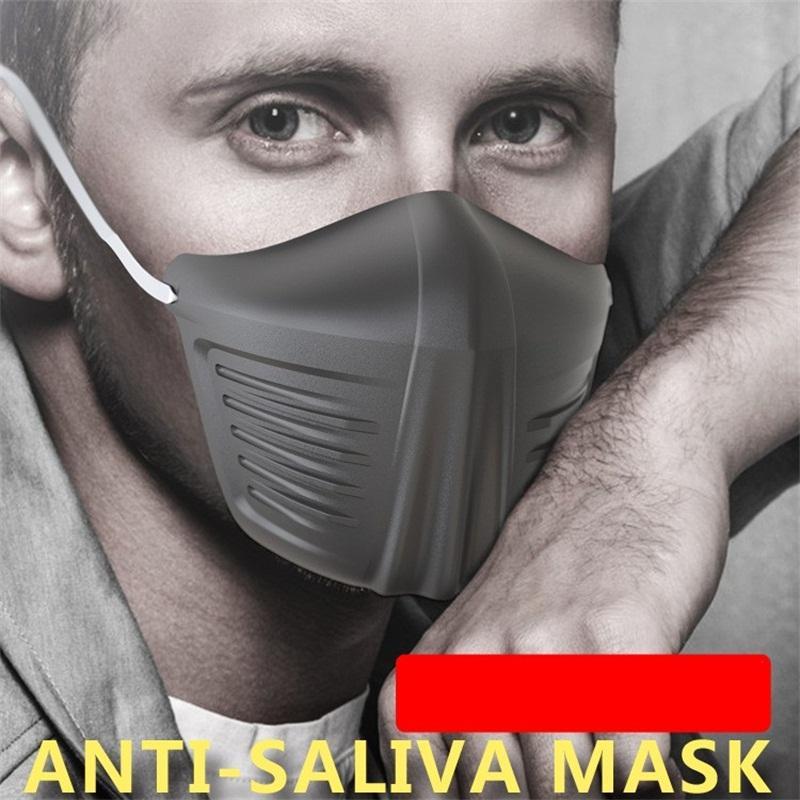 Máscaras de protección contra la boca con silicón del oído Cuerda anti Spitte Splash Niebla prueba de polvo estéreo medias de la cubierta protectora de la máscara protectores faciales 3jk E1