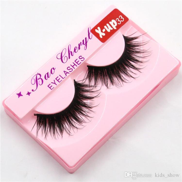 Natural Long Lifelike Hand Made False Eyelash 3D Full Strip Mink Lashes Thick Fake Eyelashes Makeup Beauty