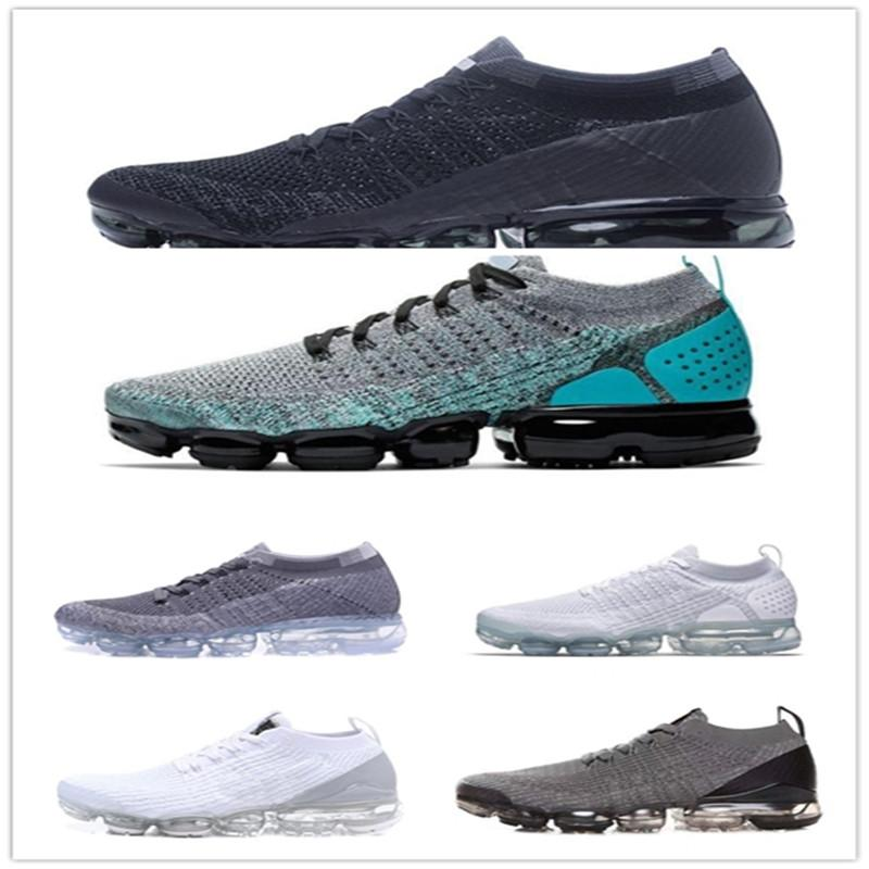Nike Air Max Vapormax Shoes 2020 Classic 2018 Off-W Fly cuscino 2.0 3.0 Knit Flagship Scarpe Donne Donne Triple Bianco Nero Grigio Knitting Trainer Sneakers