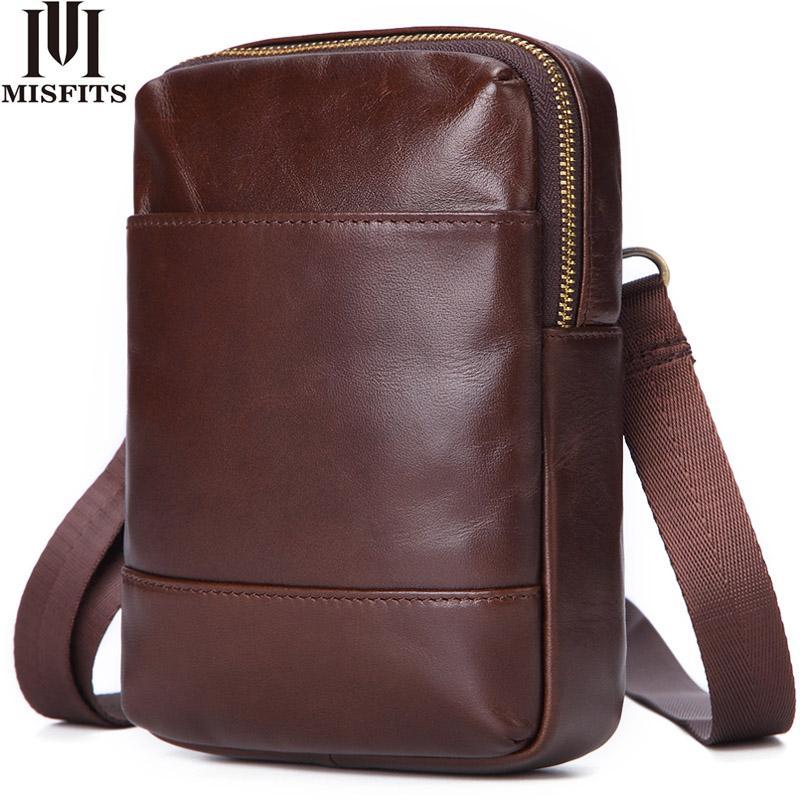 Квенийские натуральная кожа мужчины небольшие Кроссбоди сумка сумки человек мешок плеча талии пакеты сотового телефона держатели карт