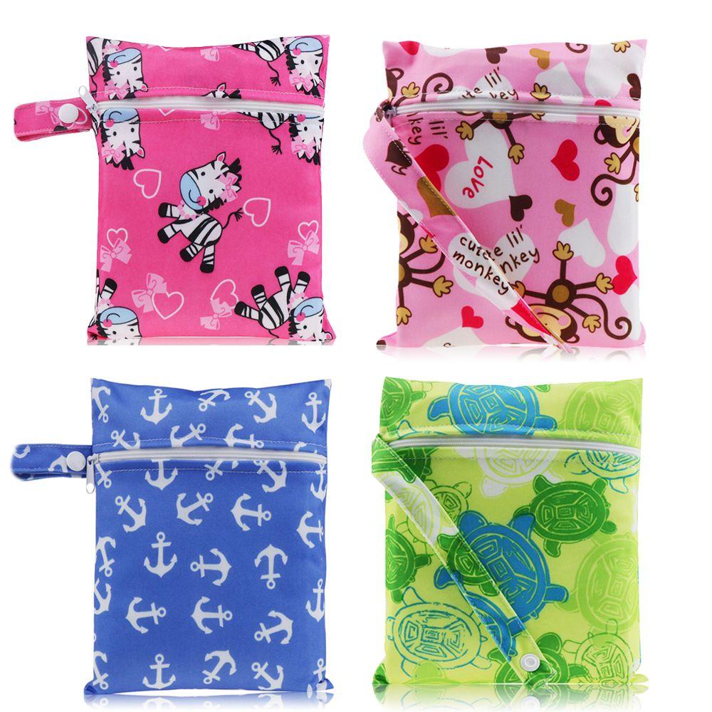 Водонепроницаемые многоразовые мокрые сумки для менструальных площадок для медсетейных площадок макияж коляска путешествия карманный мини влажный сумка для детского ухода