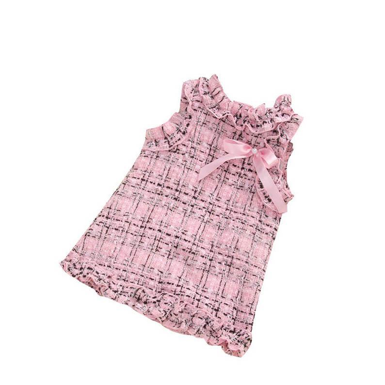 meninas de lã ins 2color vestidos de renda crianças de moda princesa arcos vestido de festa bebê roupas de bebê menina miúdos designer vestido meninas vestir B28