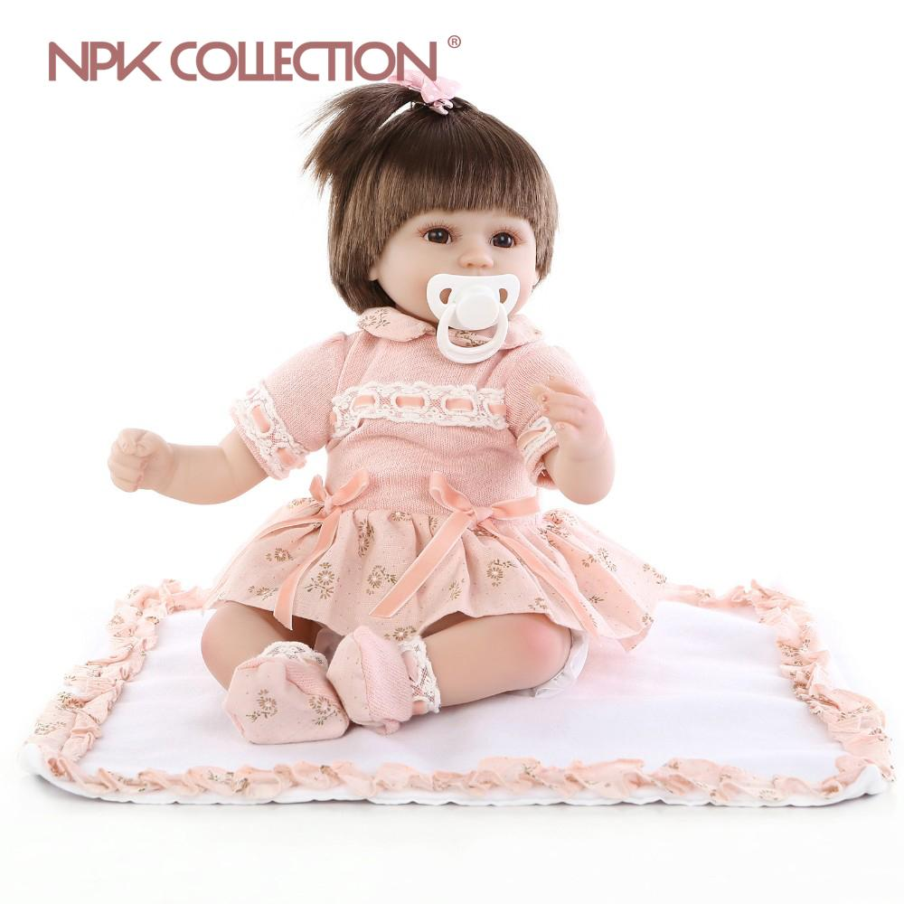 NPKCOLLECTION New Renewald Baby Doll Silicone Vinyl Real Touch Neworn 16inch 40cm prince bebes reborn girl toys bonecas MX200414