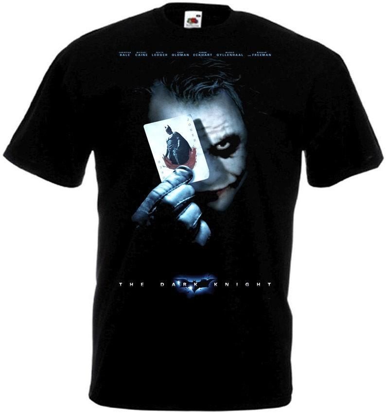 The Dark Knight Movie Poster Men's T-shirt Hip Hop Harajuku Tshirt Sexy Girl T Shirts Custom Tee Shirt Big Size Men