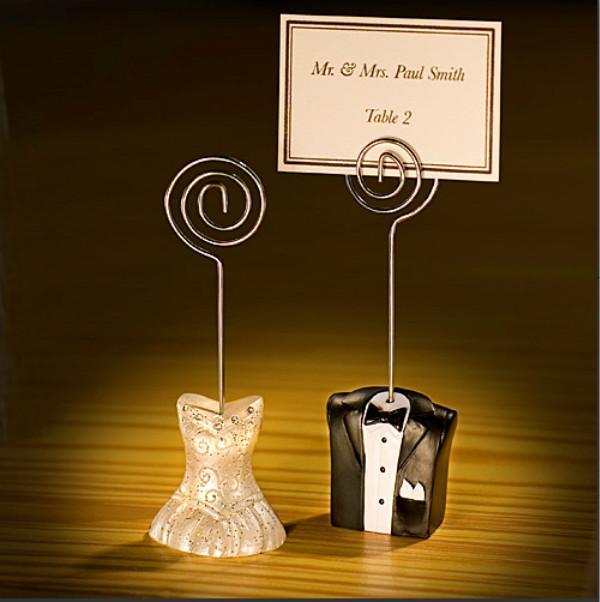 Braut und Bräutigam Platzkartenhalter Sitz Ordner Foto-Halter Platzkarte Wedding Hochzeitsgast-Tabellen-Zahl-Halter Hochzeit Bevorzugungen No Card
