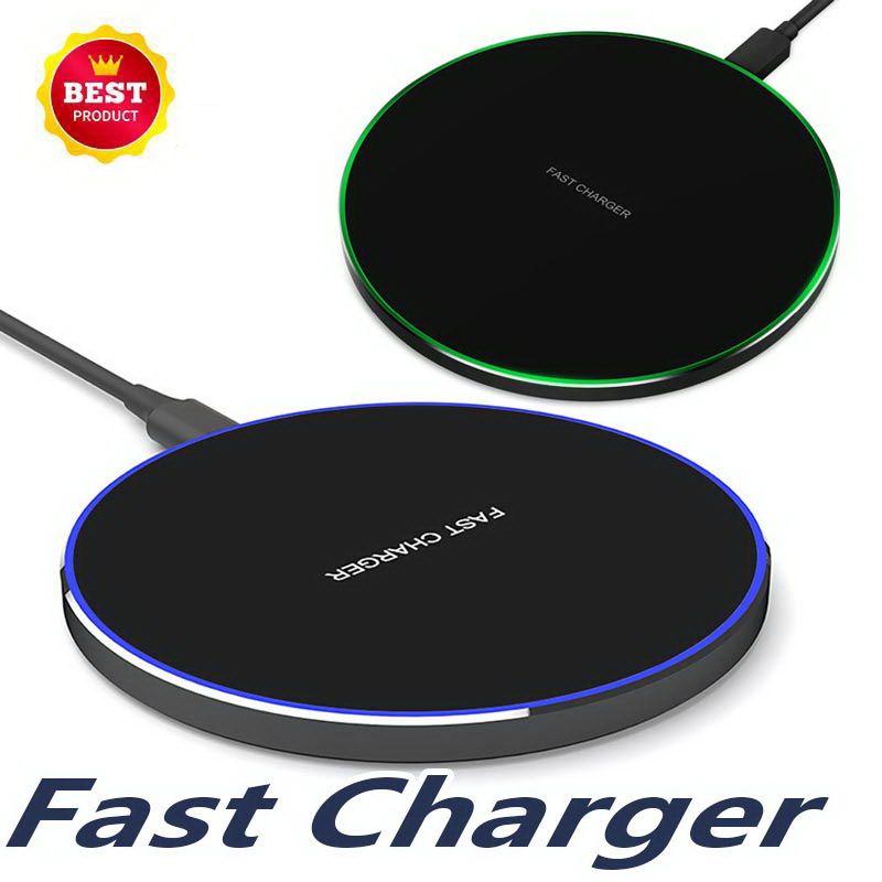10 W Rapide Sans Fil Chargeur Pour Samsung Galaxy S10 S9 S8 Note 9 8 USB Qi induction de Charge Pad pour iPhone XS Max XR X 8 Plus
