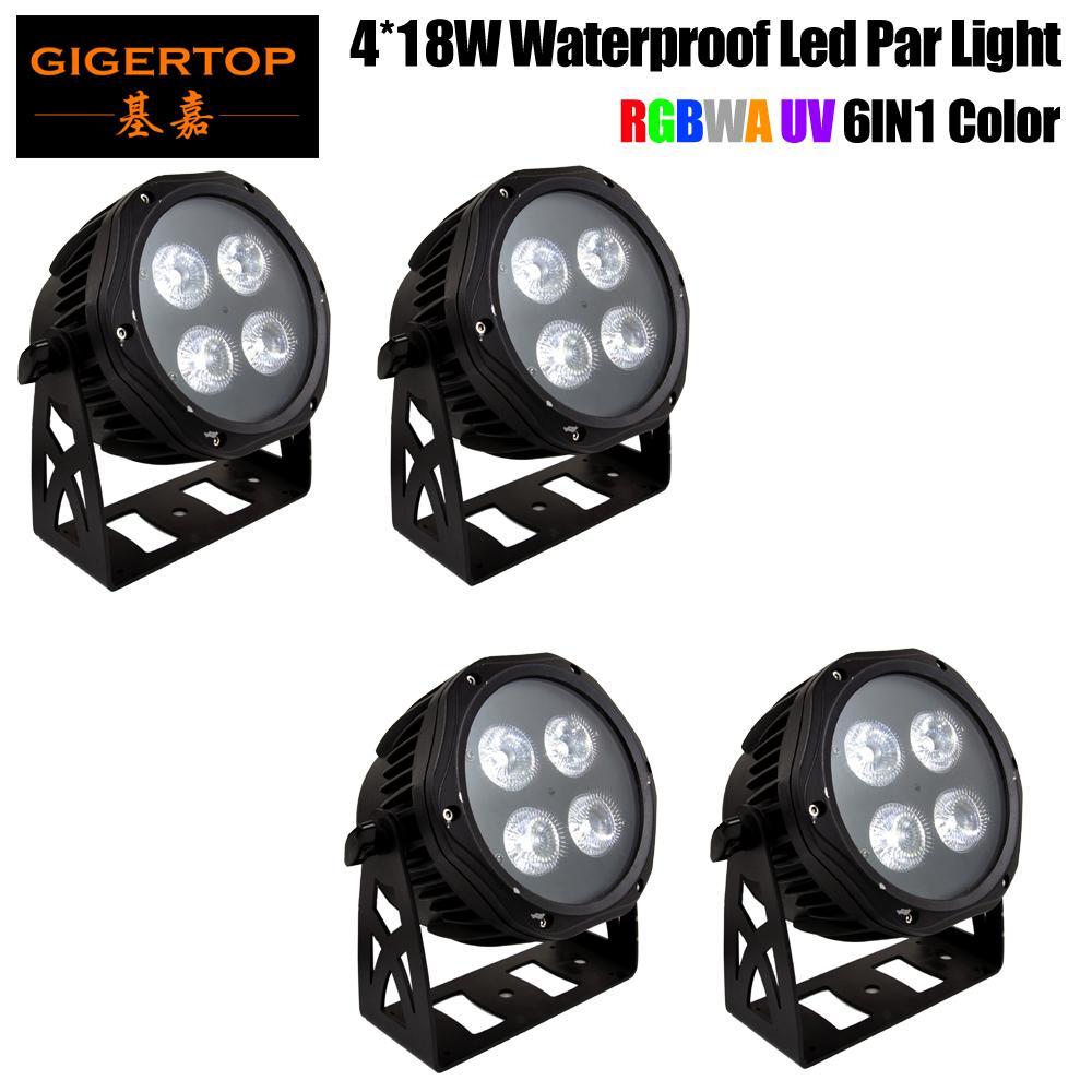 4PCS للماء LED شقة الاسمية 4x18W حزب RGBWAP DMX512 المرحلة تأثير الإضاءة جيدة للحصول على حوض سباحة داخلي DJ ديسكو قاعة الرقص