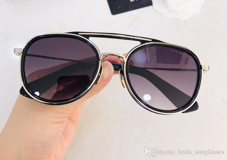 Hommes / Femme Titane Noir Or / Marron Lunettes de soleil Lunettes de soleil Lunettes de soleil lunettes vintage neuf avec boite DNUM190513-7