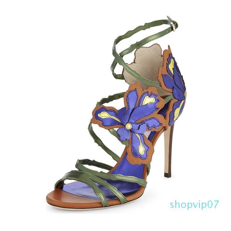 Hot2019 Sandalet Çiçek İnce ile Will Kod Kadın ayakkabı
