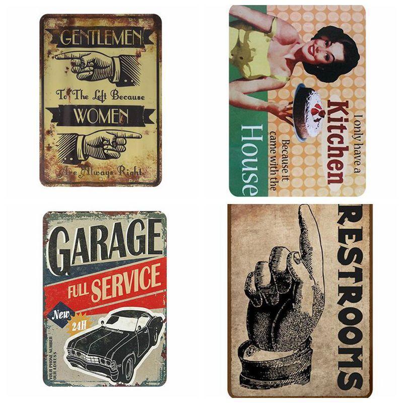 Beer Metal Sign Plaque Vintage Pub USA Plate Tin Wall Decoration Bar Wine Garage