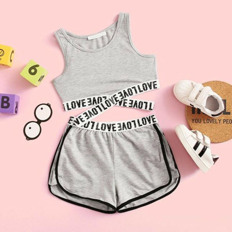 Лето Малыш Дети Baby Girl Одежда Топы Растениеводство Шорты Комплект Одежды Спортивный Костюм Девушки Одежда Набор