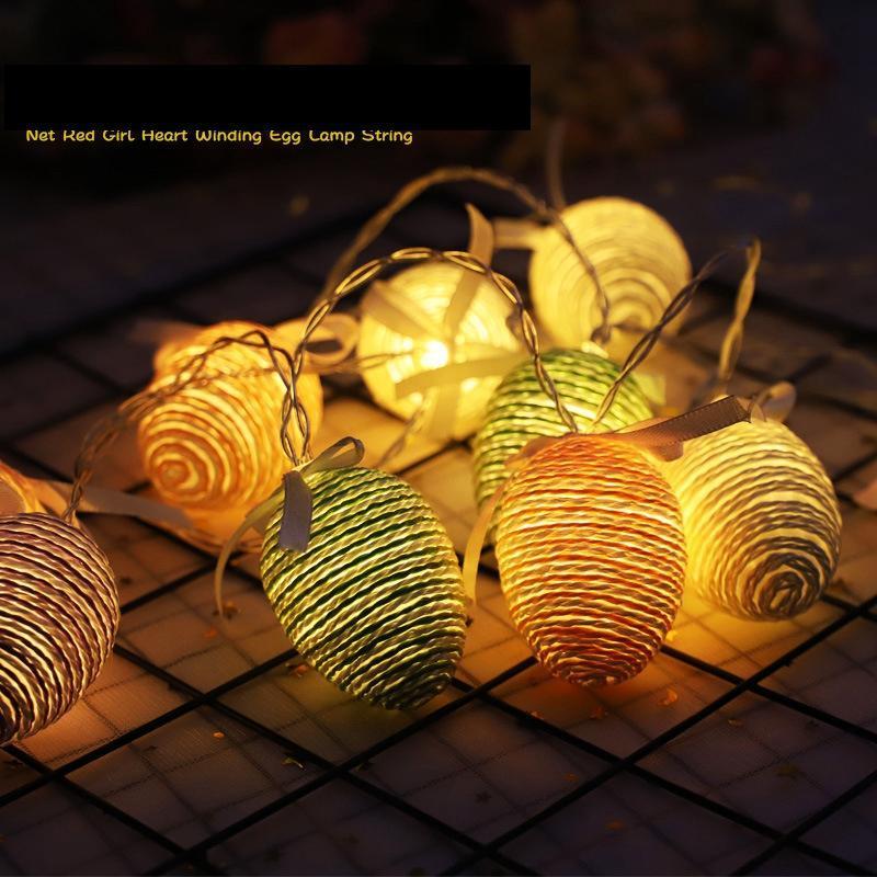 1.5 M Paskalya LED Hediye Bahçe Dize Ev Lamba Dekorasyon Paskalya Dize Yumurta Parti Işıkları Düğün Işık GGA3184-1 USCQQ