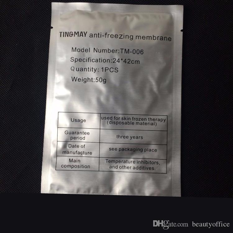 Yüksek Kaliteli Antifriz Membran Anti Freezing Membran Anti Freeze Film Freeze Tedavi Anti Freezing Kriyo Pad 24x42 cm 34x42 cm
