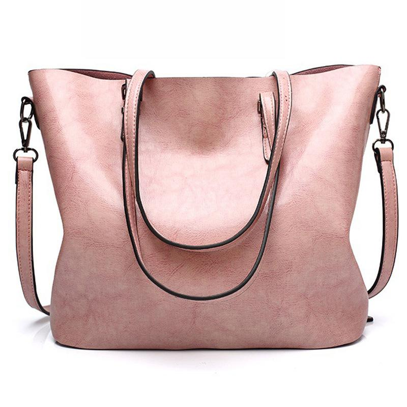 HBP 여성 totes 가방 핸드백 지갑 가죽 어깨 가방 대용량 토트 캐주얼 핸드백 지갑 핑크 색상