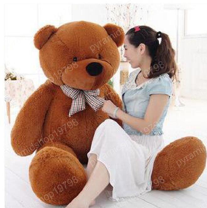 Nouvelle arrivée géant 80cm peluche ours en peluche énorme jouet 0,8 m en peluche jouets cadeau de Saint Valentin / cadeaux d'anniversaire / cadeau du nouvel an