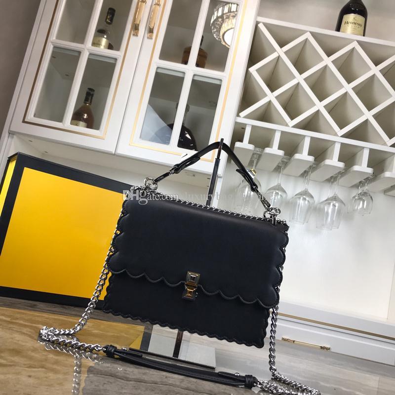 Taşınabilir Cüzdan Hakiki Tek Çanta Askı Omuz Moda Deri Klasik Çapraz Zincir Çanta Omuz Sürgülü Straddle Catwalk Implate Ehpo