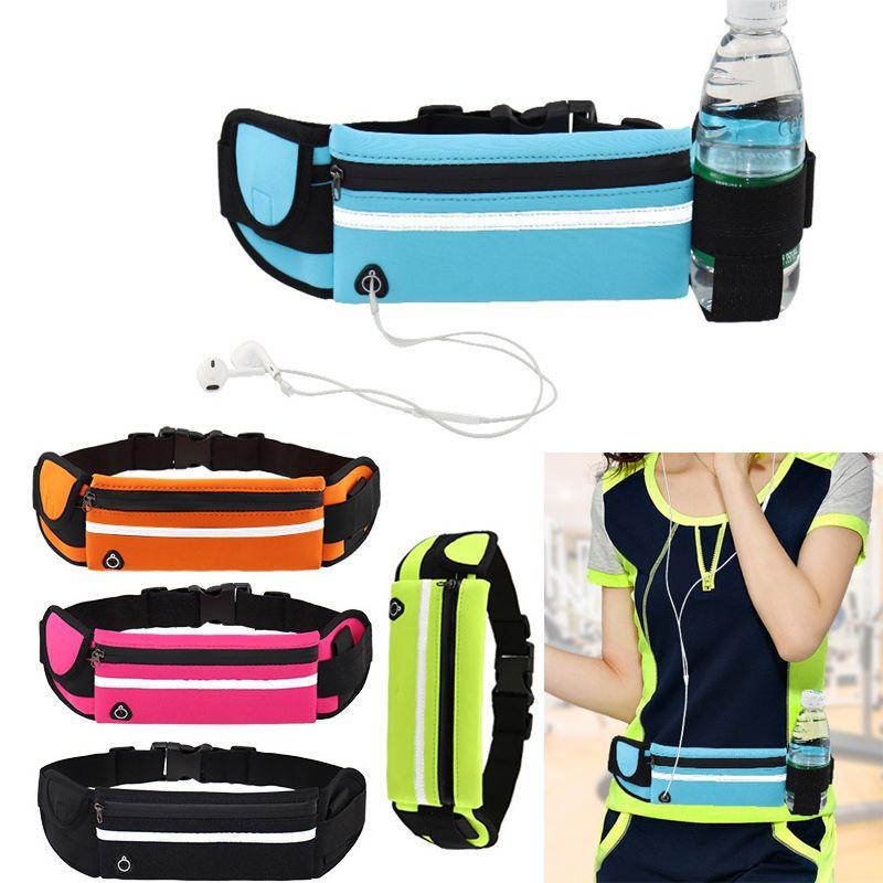 Trotar Correr bolsa de la cintura del bolso del ejercicio del deporte de la cintura del paquete del bolso impermeable para la Ejecución de camping ciclo de la gimnasia al aire libre Senderismo Bolsa de gimnasio