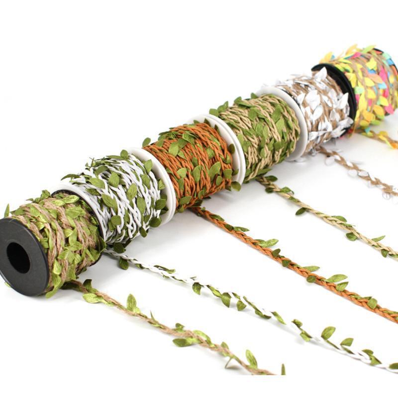 10,94 10m Quintal Vine Artificial decorativa Garland Corda folha artificial