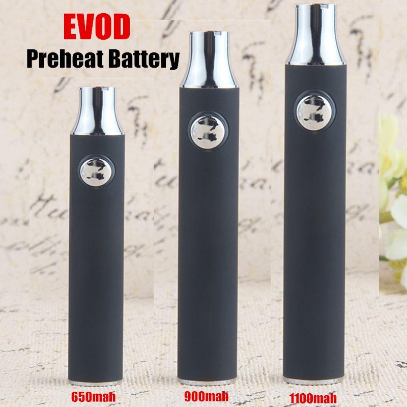 100% de calidad Precaliente EVOD 510 Vape Pen Batería 1100 mAh 900 mAh 650 mAh Voltaje Baterías ajustables Fit 510 Vape Cartuchos Gratis LOGO OEM