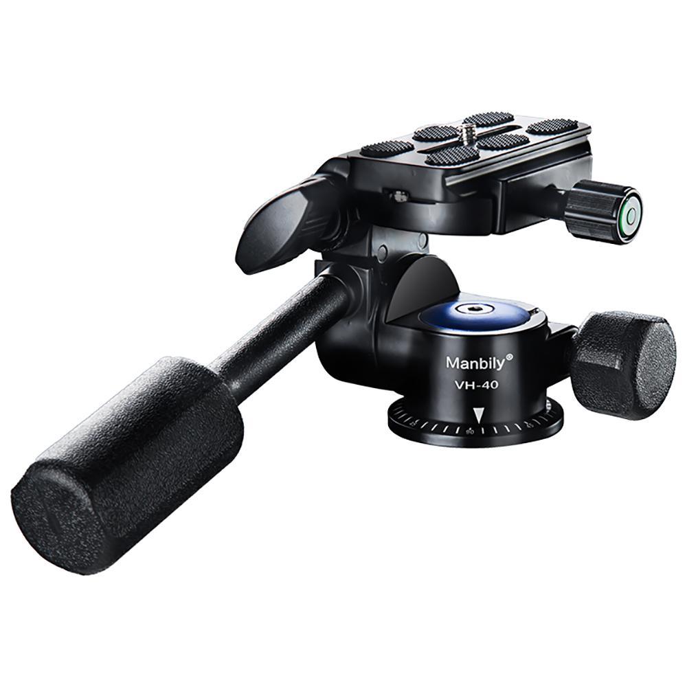"Zubehör Stativköpfe Manbily VH-40 Professional Mini Phone Video Stativkopf Fluid-Ziehen Linsenkopf 1/4 \""Screw"