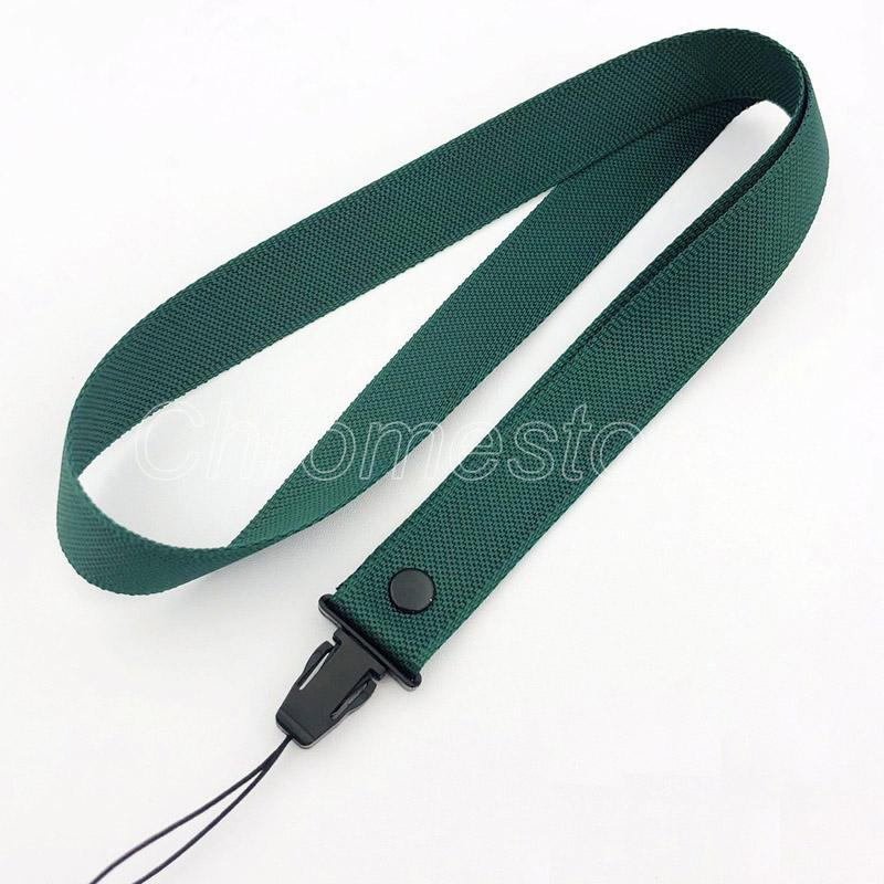Wholesale Free shipping Solid color Cellphone Lanyard case holder Nylon neck Strap Hanging Charming Charms For Iphone MP3 MP4 ID cards