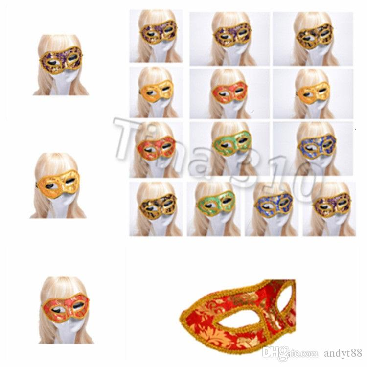 chaud dentelle Carnaval danse Masque masque Halloween Demi-masque Masques visage mascarade vénitienne Sexy Costume Party Masques Cosplay T2I5321