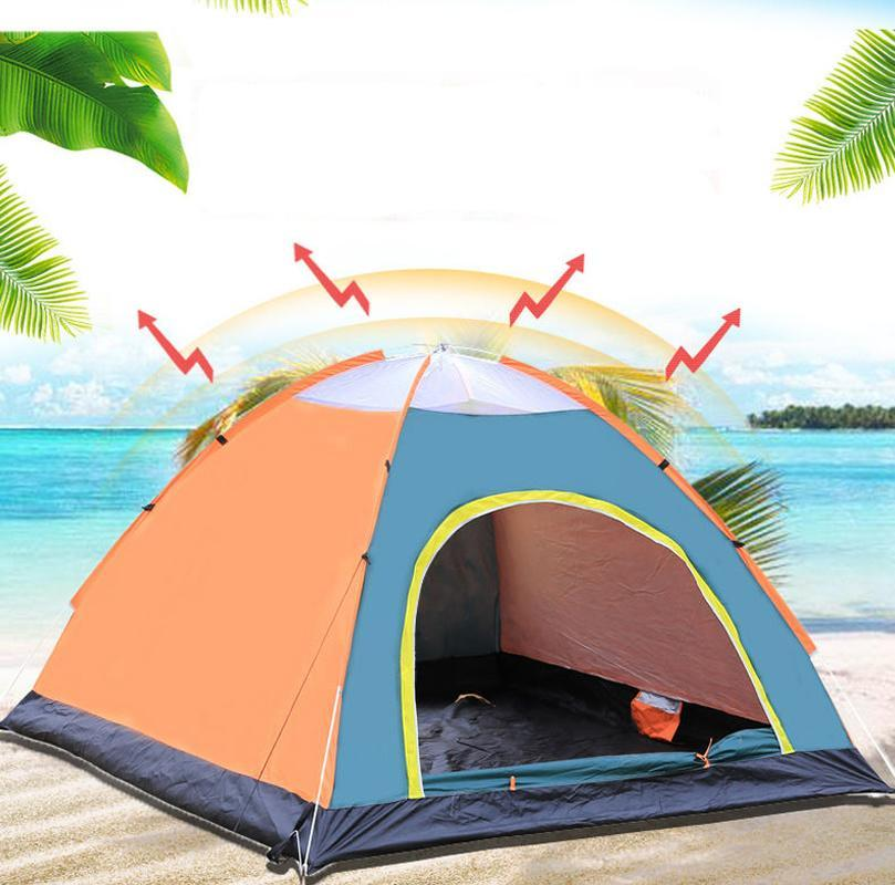 33UV Protection 3-4 Person Automatic Quick Up Outdoor Shelter Camping Tent Instant Popup Anti UV Awning Tents Outdoor Sunshelter