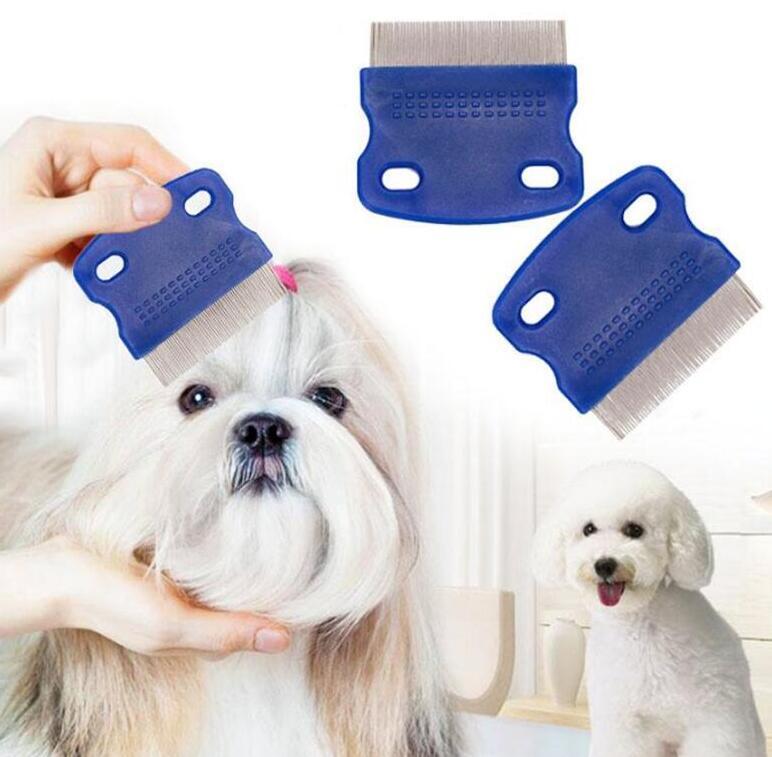 الحيوانات الأليفة مشط القمل غير مقبض زلة الفولاذ المقاوم للصدأ دبوس كومز التهيأ تنظيف Punny أحمق الحيوانات الأليفة قمل الحرة المزيل فرشاة الكلب البرغوث العلاج ALSK78