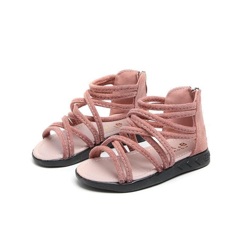 2018 Summer Baby Girls Sandals Roman style Children Sandals Soft bottom Fashion Student Shoes Pink White Black Infant Shoes