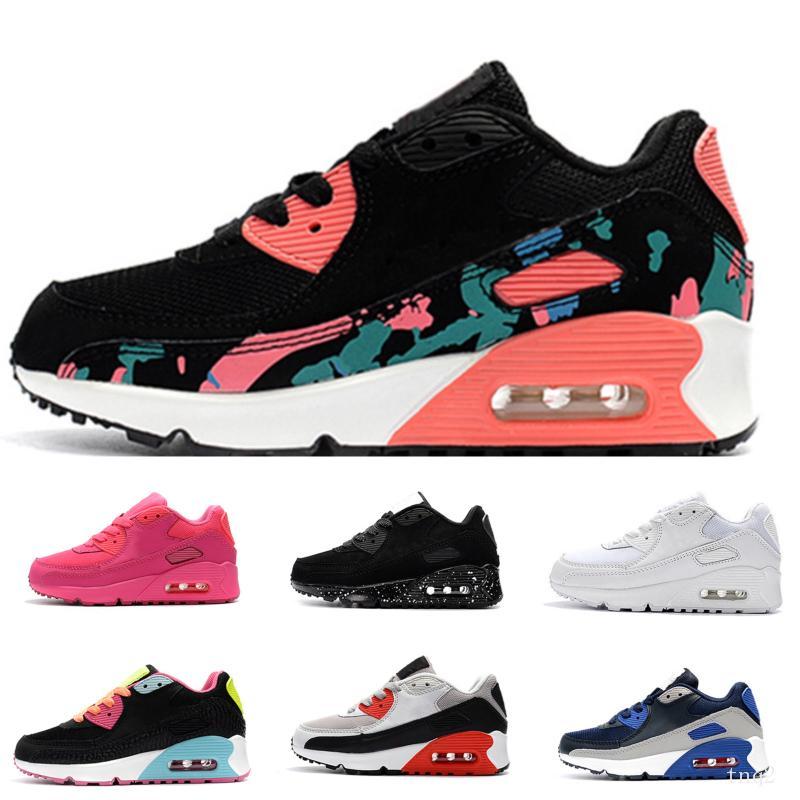 Nike air max 90 Chaussures de sport Presto II enfants Chaussures de course pour enfants blanc noir infantile pour bébé Sneaker enfants sport chaussures filles garçons Entraîneur