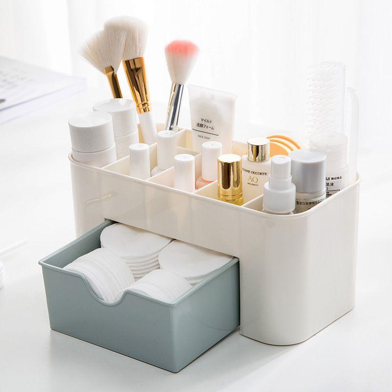 Gain d'espace de bureau comestics Maquillage tiroir de rangement de type organisateur maquillage Box maquillage organizador escritori
