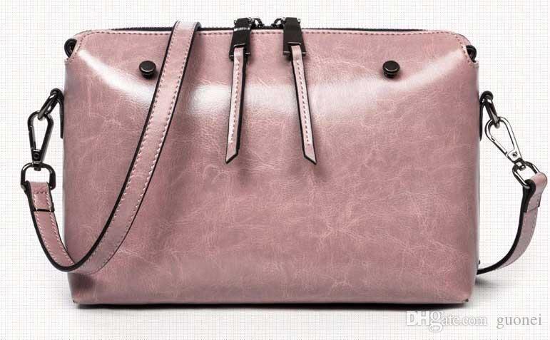 nuovo-spalla coreano classico della moda in pelle versione cera burro vacchetta semplice signora estate Designer-Spring e inclinava il sacchetto quadrato