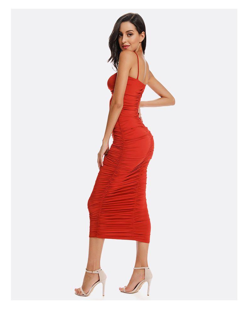 Akşam elbise çantası kalça elbise saf renk kelime omuz tüp üst seksi kayış elbise Avrupa ve Amerikan patlama modelleri