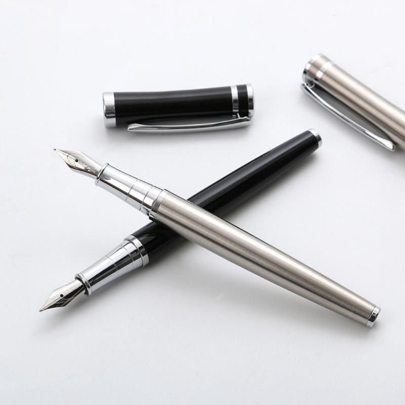 Easy handle Fountain ink pen Stainless steel metal fountain pens Baoer 3035 Stationery Office school supplies canetas A6310