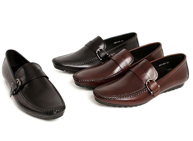 Mode Chaussures en cuir ronde hommes Oxfords Toe homme Chaussures de travail Tenue de soirée Chaussures Homme Confortable Chaussure