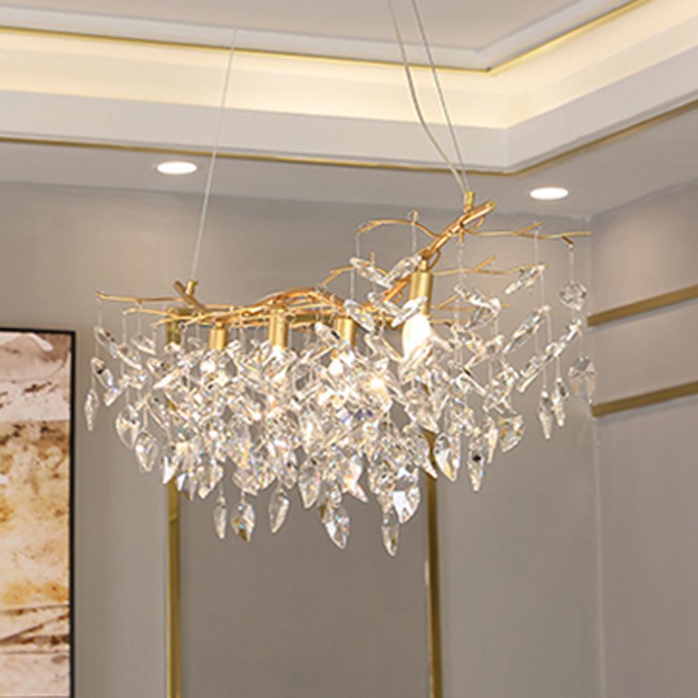 parlaklık kristal asılı avizeler çubuğu ışığı aydınlatma lüks altın kristal avize lamba ev dekorasyon