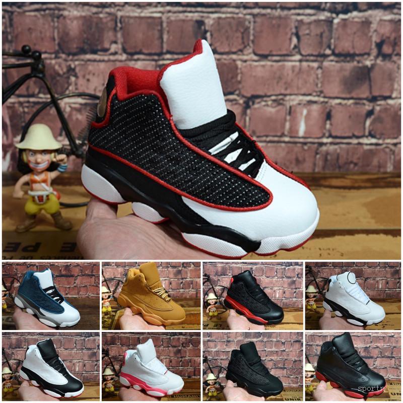 Nike air jordan 13 retro Günstige Damen Jumpman 13 Basketballschuhe 13s Schwarz Weiß Rot Blau Junge Mädchen Jugend Kinder Luft Flüge aj13 Turnschuhe Stiefel J13 zum Verkauf