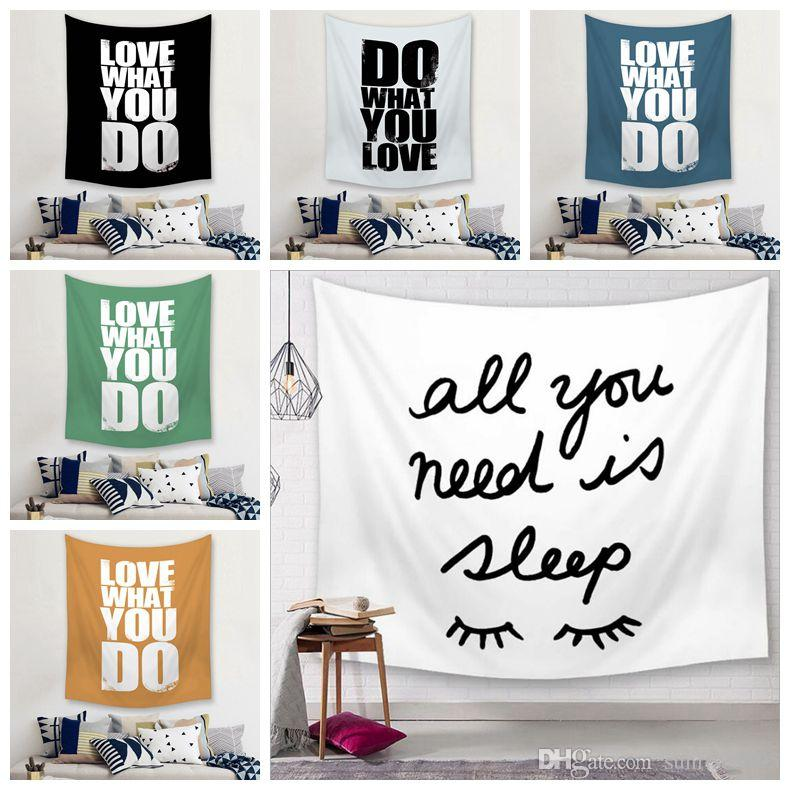 quote wall hanging decoration modern headboard tapestry bedroom bedside tenture mural word sayings room decor