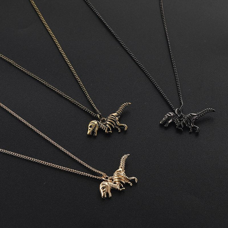 Vintage Punk Динозавр ожерелье Меди животные Шарм Подвеска ожерелье ключица цепь женщины Дизайнер ювелирных изделия себе подарки