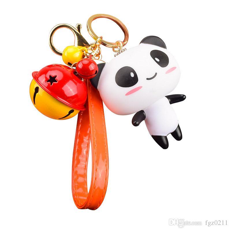Yeni Varış Sevimli Yaratıcı Mini Panda Şekli Bebek Karikatür Anahtarlık Araba Aksesuar Severler Kadınlar Için Doğum Günü Hediyesi Parti Takı 09875
