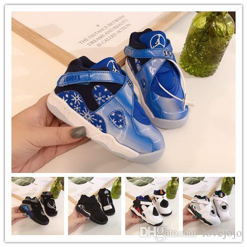 nike air jordan aj8  Bambini J8 GS scarpe da basket Designers Verde Rosso Grigio 2010 Giallo Solid tennis atletiche nero 8 Tinker Formatori Outdoor Sports 8S Chaussur