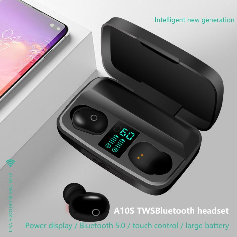 A10s Tws Earphone Bluetooth 5 0 Headphone With Charge Display In Ear Mini Stereo Wireless Earbuds Sports Headset With 1800ma Usb Power Bank Workout Headphones Bluetooth Stereo From Daikasi 8 60 Dhgate Com