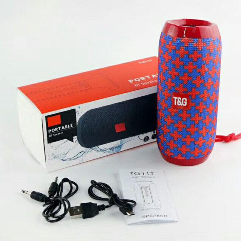 TG117 portátil Coluna Speaker Waterproof Bluetooth Speaker Outdoor Bicicleta Subwoofer baixo sem fio lança alto-falantes de cartão de caixa de altifalante de FM TF