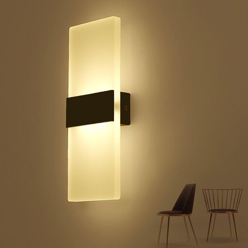 Sala de estar, foyer, quarto do corredor de cabeceira, banheiro, lâmpada de parede moderna, quadrado acrílico LED lamp110v220v de parede