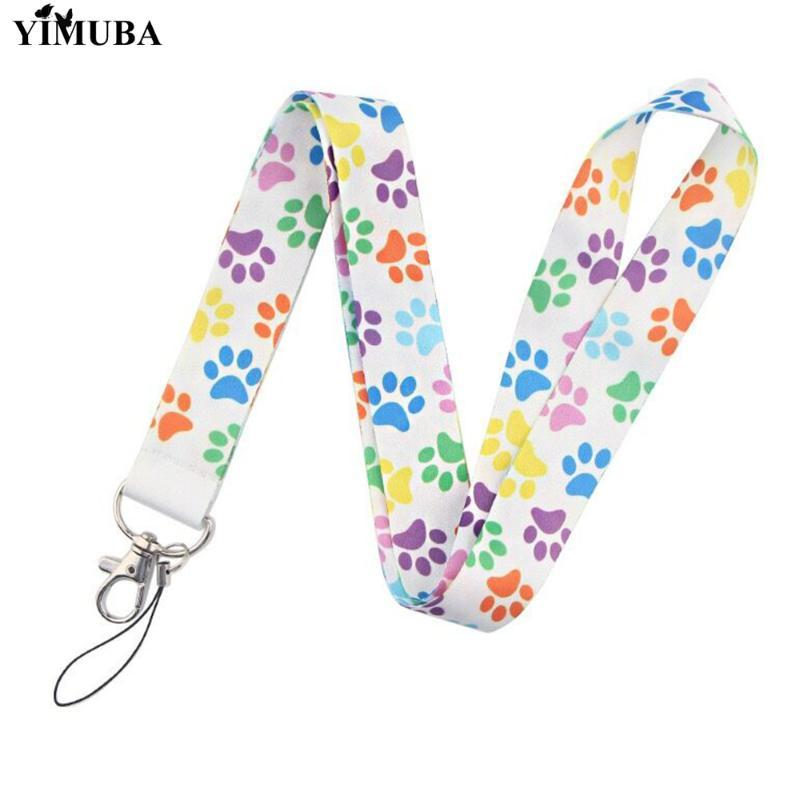 YIMUBA Cute Colorful Cartoon Print Lanyard Keychain Mobile Phone Neck Straps ID Card Gym Pass Badge Holder Ribbon Hang Rope