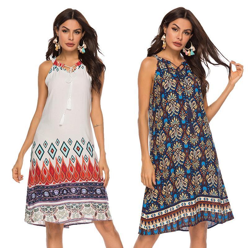 Новое платье 2019 лето сексуальная галтер юбка милые красивые путешествия тусовки женщин девочка платье сексуальный дизайн Halter размер от S до 2xL